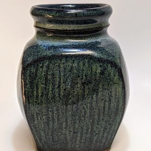 Other - Small Blue Pottery Vase Handmade